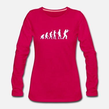 Charles Darwin Human Evolution Paintball Player - Women's Premium Longsleeve Shirt