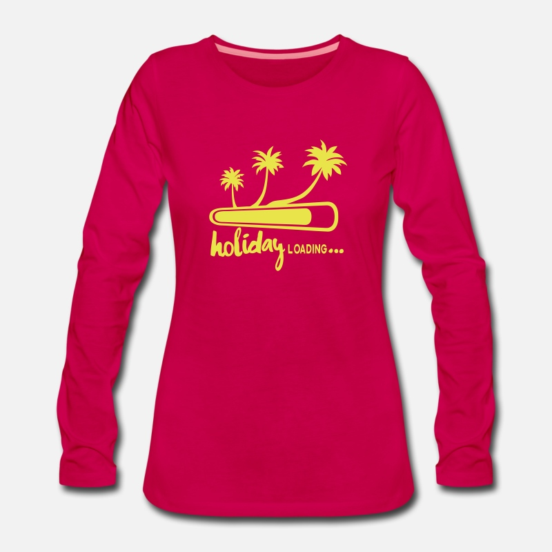 Vacation Long Sleeve Shirts - holiday loading quote palm  vacancy - Women's Premium Longsleeve Shirt dark pink