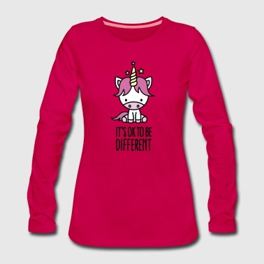 It's ok to be different - unicorn - T-shirt manches longues Premium Femme