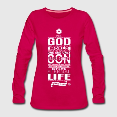 For god - Frauen Premium Langarmshirt