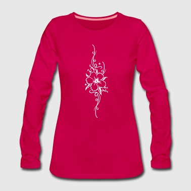 Hibiscus Ornament with big hibiscus flower, hibiscus - Women's Premium Longsleeve Shirt