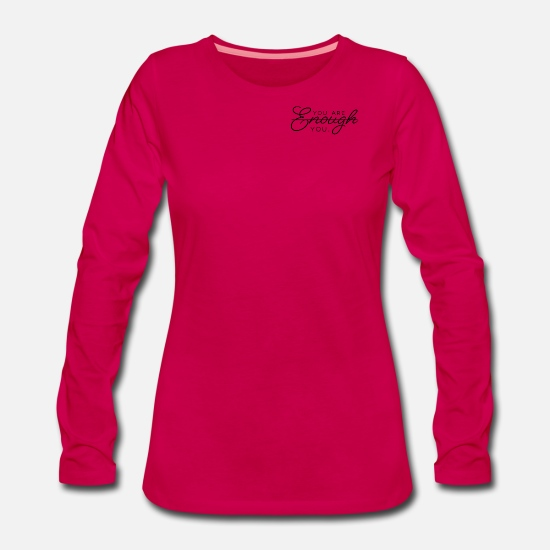 Love Long Sleeve Shirts - you are you - Women's Premium Longsleeve Shirt dark pink