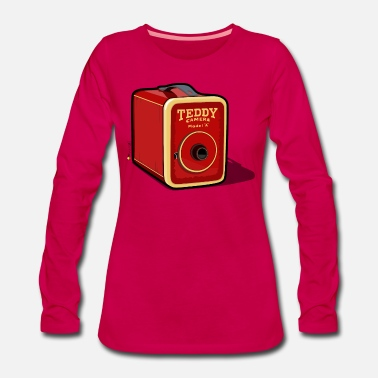 20th Century Retro Photo Camera - Women's Premium Longsleeve Shirt