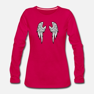Mytologi Angel Wings Feather - Premium langærmet T-Shirt dame