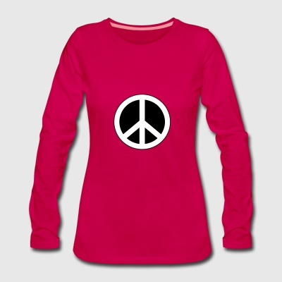 Peace, love and happiness - Vrouwen Premium shirt met lange mouwen