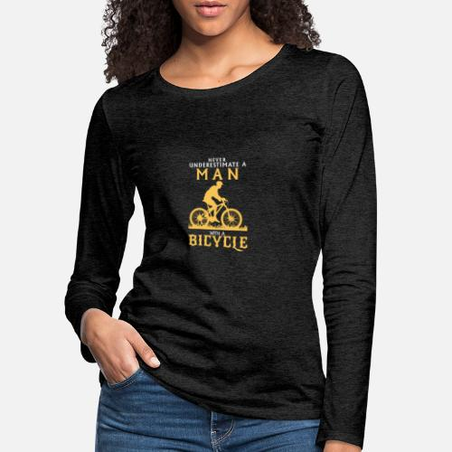 0fa5c03693586d Kocham rowery Premium koszulka damska z długim rękawem   Spreadshirt