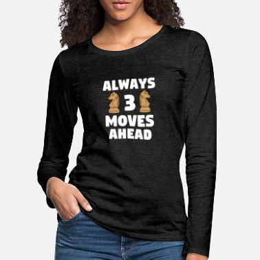 Knight Chess Player Strategy Chess Board Game Gift - Women's Premium Longsleeve Shirt