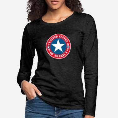 United States United States - T-shirt manches longues premium Femme