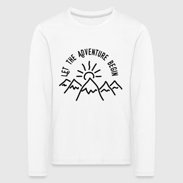 AD Let the Adventure Begin - Premium langermet T-skjorte for barn