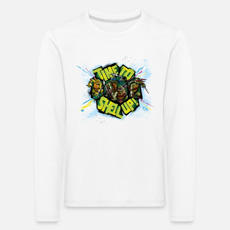 Tmnt Long Sleeve Shirts - Kids Premium Longsleeve TURTLES 'Shell up!' - Kids' Premium Longsleeve Shirt white
