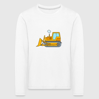Bulldozer for children - bulldozer construction site - Kids' Premium Longsleeve Shirt