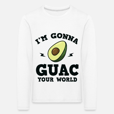Common Tropical Fruits Cool I'm gonna GUAC your world T-Shirt - Kids' Premium Longsleeve Shirt