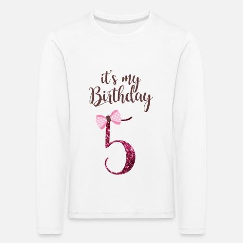 5 Geburtstag Mädchen Prinzessin Geschenk 5 Jahre Kinder Premium