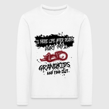 Grandparents love your grandson - grandma grandpa gift - Kids' Premium Longsleeve Shirt