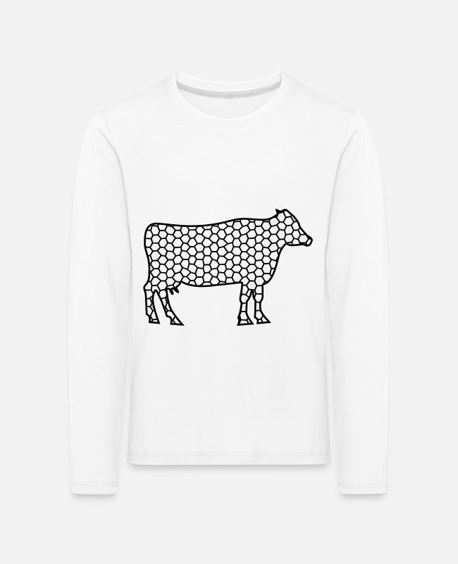 Motorcycle Long-Sleeved Shirts - cow - Kids' Premium Longsleeve Shirt white