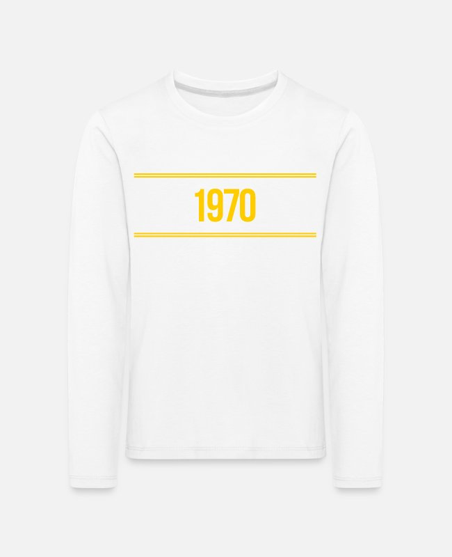 Hipster Long-Sleeved Shirts - 1970 - Kids' Premium Longsleeve Shirt white