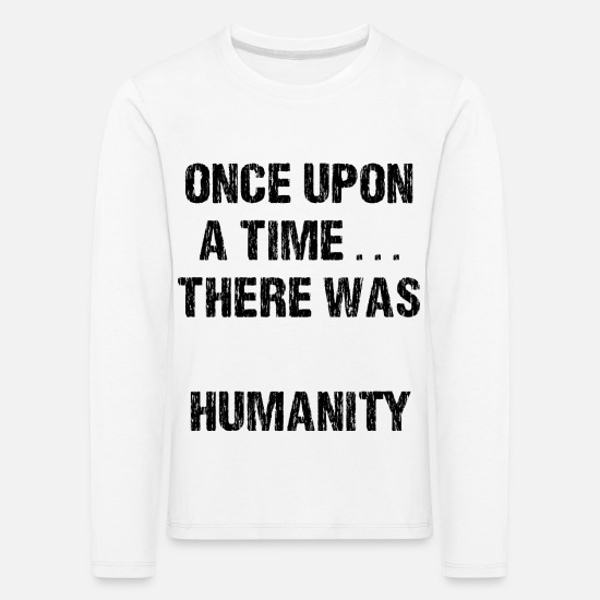 Gaza Long sleeve shirts - humanity - Kids' Premium Longsleeve Shirt white