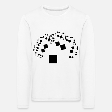 Pythagoras tree black white - Kids' Premium Longsleeve Shirt