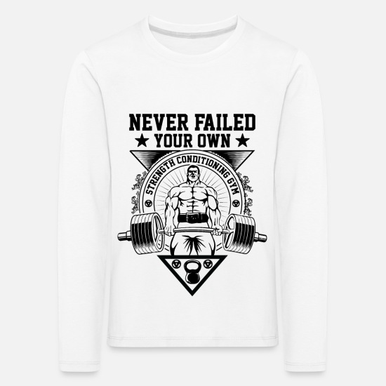 Own Long sleeve shirts - Your own never fails - Kids' Premium Longsleeve Shirt white