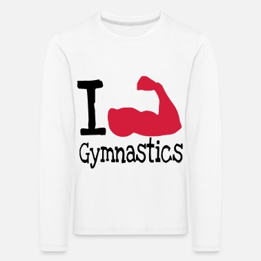 I love Gymnastics_red - Kids' Premium Longsleeve Shirt