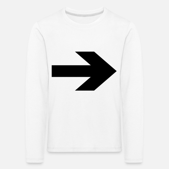 Arrow Long sleeve shirts - Bold right arrow - Kids' Premium Longsleeve Shirt white