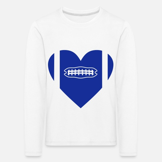 Ball Long sleeve shirts - FOOTBALL HEART - Kids' Premium Longsleeve Shirt white