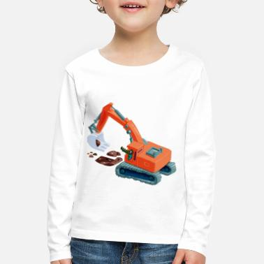 Construction Crocodile in an excavator - Kids' Premium Longsleeve Shirt