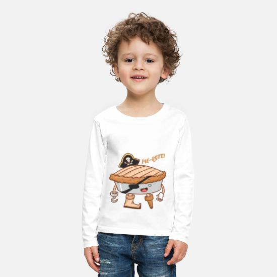 Beep Long Sleeve Shirts - Pie-rate! Pirate cake - biscuit - Kids' Premium Longsleeve Shirt white