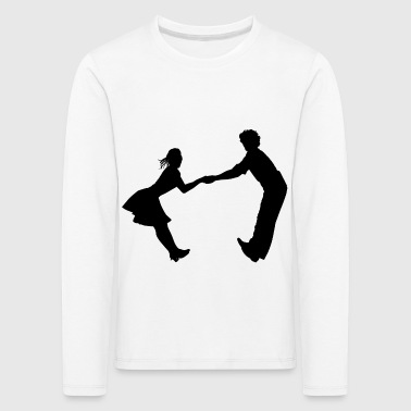 Dancing dance couple music dance music - Kids' Premium Longsleeve Shirt