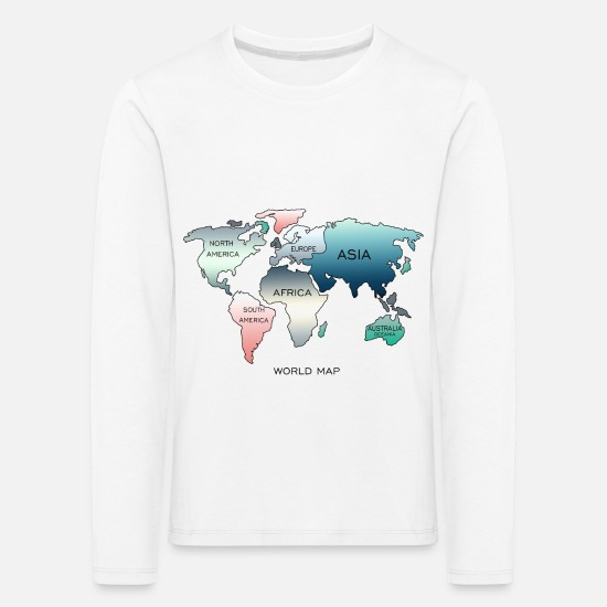 World Map Long Sleeve Shirts - World Map, World Map - Kids' Premium Longsleeve Shirt white