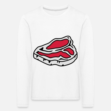 Roh Ein rohes Steak - Kinder Premium Langarmshirt