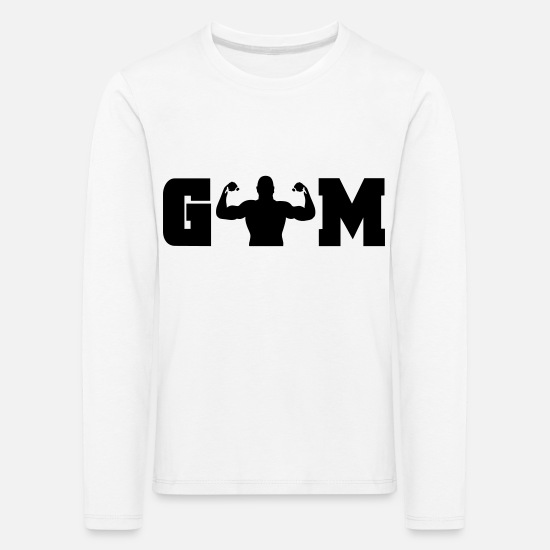 Sports Long sleeve shirts - gym - Kids' Premium Longsleeve Shirt white