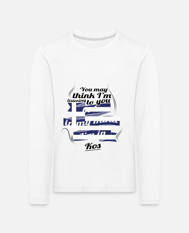 Travel Bug Long-Sleeved Shirts - GREECE GREECE TRAVEL IN IN Greece Kos - Kids' Premium Longsleeve Shirt white