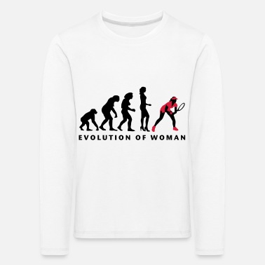 Backhand evolution_female_tennis_b_2c - Kids' Premium Longsleeve Shirt