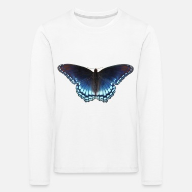 Butterfly in blue with great gradient - Kids' Premium Longsleeve Shirt