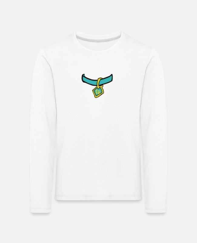 Drawing Long-Sleeved Shirts - Scooby Medal - Kids' Premium Longsleeve Shirt white