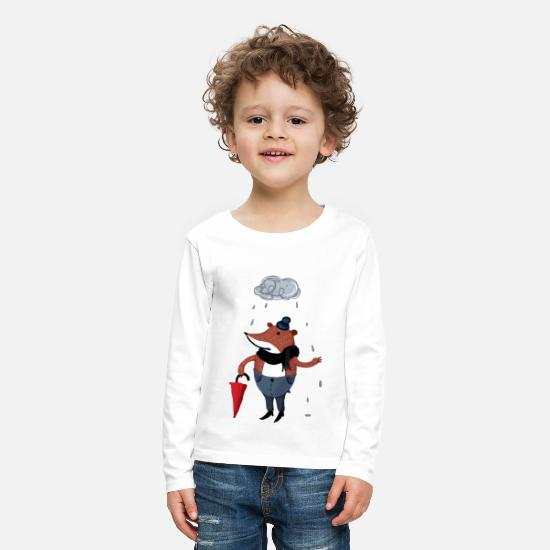 Bestsellers Q4 2018 Long sleeve shirts - why is it always rain on me - Kids' Premium Longsleeve Shirt white