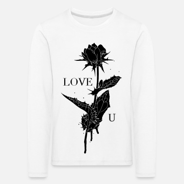 Love You Rose - T-shirt manches longues premium Enfant