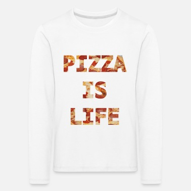 Pizza is life Geschenk - Kinder Premium Langarmshirt