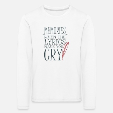 Song Music Lyrics Lyrics Songs Songs - Kids' Premium Longsleeve Shirt