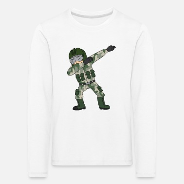 Jet Dabbing military pilot / fighter pilot - Kids' Premium Longsleeve Shirt