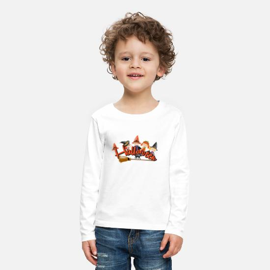 Dig Long Sleeve Shirts - Happy Halloween Witch - Kids' Premium Longsleeve Shirt white