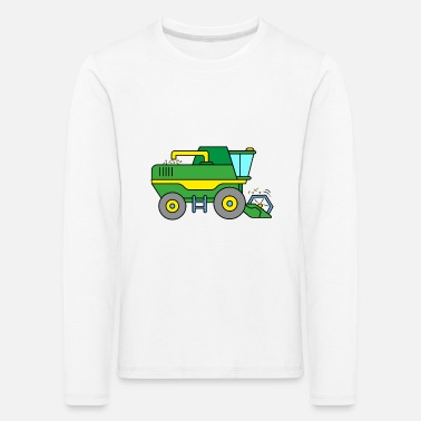 Harvester Combine harvester on the farm - Kids' Premium Longsleeve Shirt