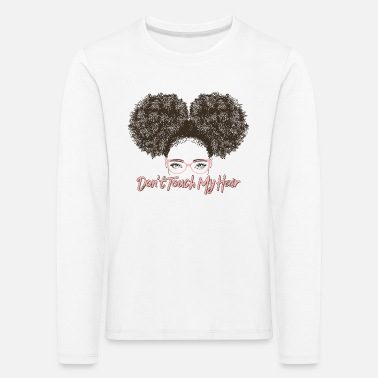 Afro Hair Touch Graphic - Kids' Premium Longsleeve Shirt