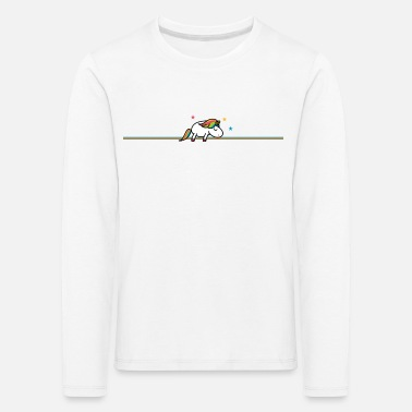 Planet Sleeping Unicorn (b) - Långärmad premium-T-shirt barn