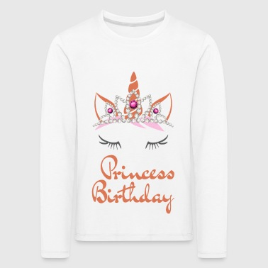 Birthday Unicorn for girls birthday princess tiara - Kids' Premium Longsleeve Shirt