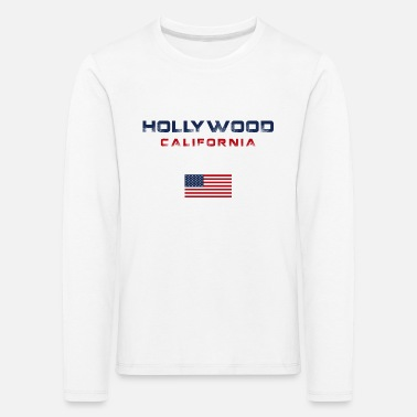 Hollywood Hollywood California Grafik - Kinder Premium Langarmshirt