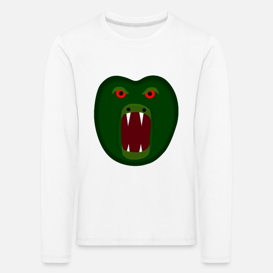Gift Idea Long sleeve shirts - Monster Fabelwesen Kreatur Halloween Shirt Design - Kids' Premium Longsleeve Shirt white