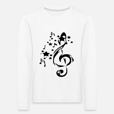 Love I LOVE The Music - Kinder Premium Langarmshirt