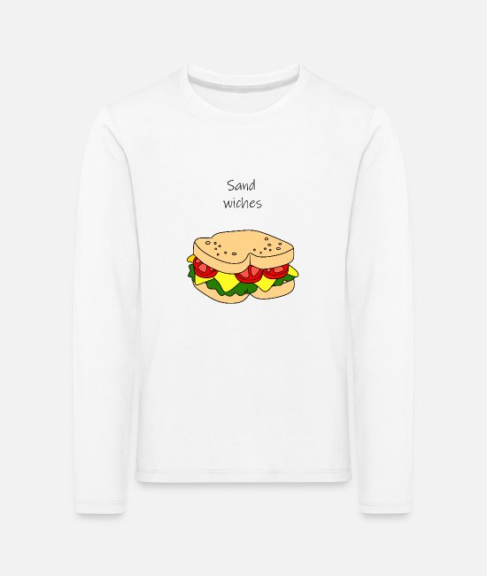 Sandwich Long-Sleeved Shirts - Couple shirt Sandwich 2 - Kids' Premium Longsleeve Shirt white